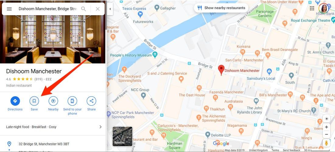 View Locations by Downloading the Google Maps App