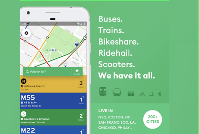 Transit App - See Bus Schedules and Bike Rentals in NYC