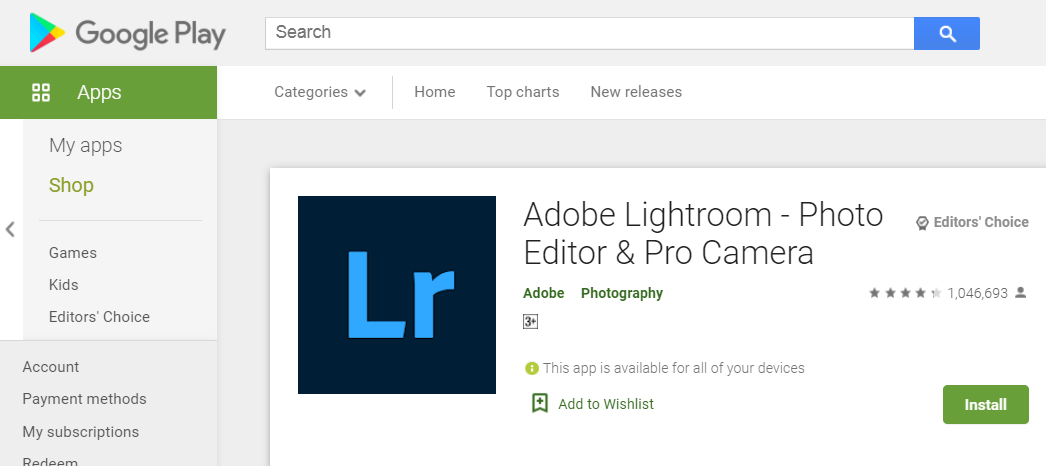Lightroom: The Easy Image Editing Tool